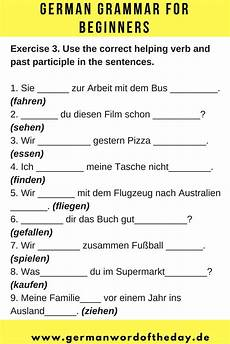 german worksheets for beginners printable 19573 past tense in german haben or sein exercises pdf german language learning german grammar