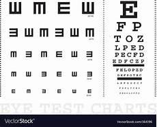 Snellen Eye Examination Chart Snellen Eye Test Charts Royalty Free Vector Image