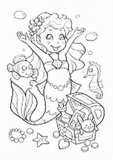 ausmalbilder meerjungfrau ausdrucken kostenlos zum