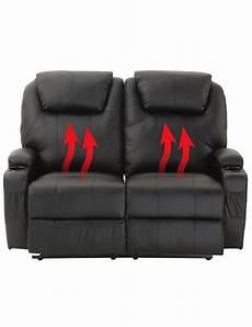 2er couch elektrisches 2er sofa mit w 228 rme und massagefunktion