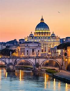s cathedral above the tiber river vatican