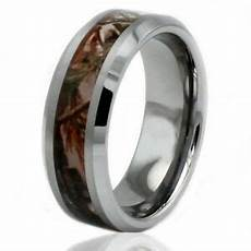 mens tungsten carbide forest woods camouflage engravable wedding ring