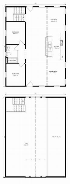 30x40 house floor plans pre designed cabin 30x40 floor planb layout in 2019 loft