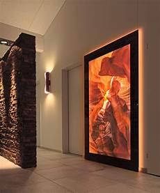 wandbilder aus stoff beleuchtete wandbilder wohnzimmer beleuchtete wandbilder