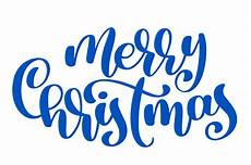 text merry christmas written calligraphy lettering handmade vector illustration fun brush