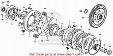 honda ct 70 k3 clutch assembly diagram honda ct70 trail 70 k3 1974 usa clutch schematic partsfiche