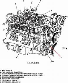 1996 Chevy 350 Motor Where Is The Crankshaft Sensor