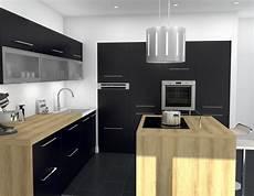cuisine noir pas cher cuisine mat plan de travail bois atwebster fr