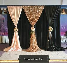 3m x 3m unique black wedding backdrop with beautiful swag wedding drape and curtain wedding