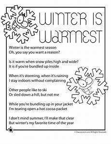poetry worksheets printable 25210 winter is warmest poem woo jr activities