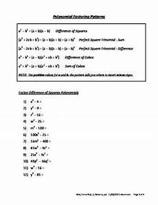 factoring perfect square trinomials worksheet pdf