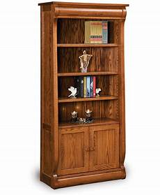 old classic sleigh bookcase with doors amish direct furniture