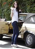 Lana Del Rey Cruises In Her Classic Mercedes  Celebrity