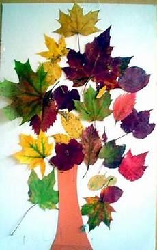 Basteln Mit Herbstblättern - herbstbaum natur basteln meine enkel und ich
