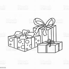 coloring page outline of gifts stock