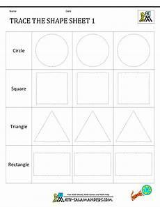 shapes worksheet works 1316 shape tracing worksheets kindergarten
