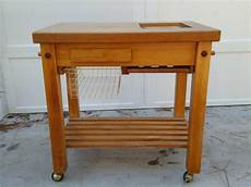 Kitchen Cart Maple by Solid High Quality Maple Top Le Gourmand Rolling Butcher