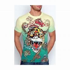 Ed Hardy Shirt - s ed hardy t shirt tiger alive in yellow ed hardy