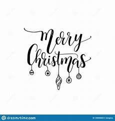 merry christmas holiday script lettering design calligraphy vector illustration stock