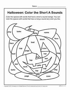 color the halloween words short a sounds halloween activity