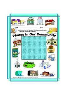 places in community worksheets 15955 exercises places wordsearch