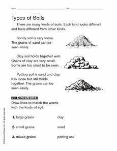 types of soils worksheet for 2nd 3rd grade lesson planet