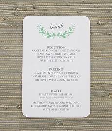 wedding reception card templates wreath reception card template print
