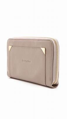 lyst see by chlo 233 daisie zip wallet in gray