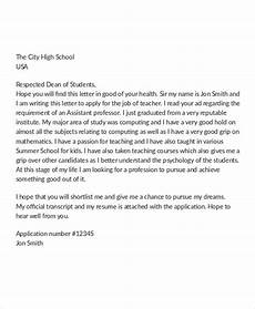 16 job application letter for teacher templates pdf