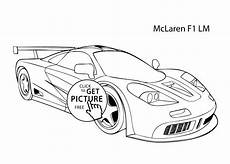 car mclaren f1 lm coloring page cool car printable