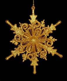 Gold Snowflake Black Background