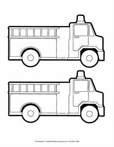 truck pattern trucks school crafts