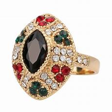 2016 cheap unique vintage black rings color gold