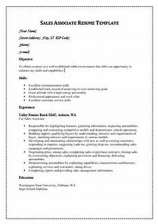 sales resume templates 5 free printable ms word formats