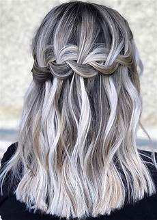 adorable braids with grey hair colors in 2018