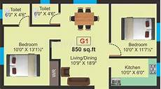 850 sq ft house plan 850 sq ft 2 bhk floor plan image a p anumithra available
