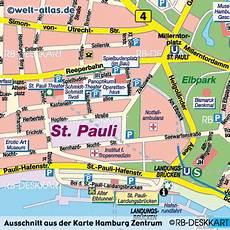 Hamburg Sehenswürdigkeiten Karte - photo map of hamburg 169 rb deskkart welt atlas de