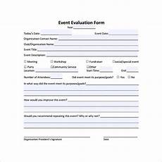 free 9 event evaluation sles in pdf ms word excel