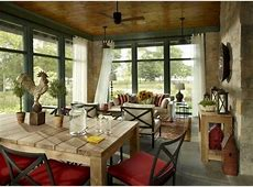 Screened porch of an Evanston, IL, lakefront home. James