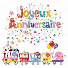 Joyeux Anniversaire Happy Birthday In Greeting Card