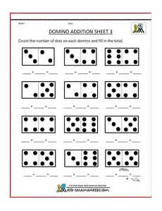 subtraction and addition worksheets for kindergarten 9991 printable kindergarten math worksheets domino addition 3 st 230 r 240 fr 230 240 i kindergarten math