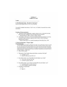 conflict over land worksheet for 7th 11th grade lesson
