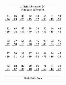 free math worksheets subtraction borrowing 2 digit borrowing worksheet printable worksheets and