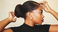 sleek realistic faux bun thick short natural hair video