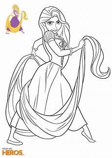 Malvorlagen Rapunzel Easy Coloriage Princesses Disney Raiponce Princess Coloring