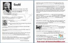 gandhi free worksheets notebook pages homeschool den