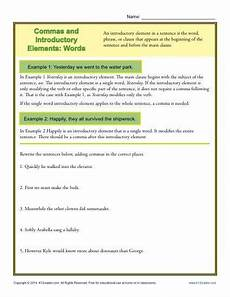 punctuation worksheets k12 20817 commas and introductory elements words punctuation worksheets words punctuation