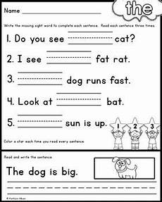free sight word practice pages read and write the boys