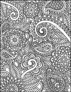 mehndi coloring page henna printable pdf original design