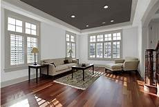 combine a dark ceiling with grey trim white walls for that s modern fresh colors